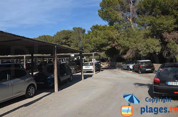 Parking de la plage de Ses Salines à Ibiza