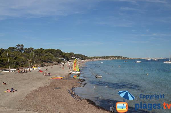 Photo de la plage de Ses Salines à Ibiza