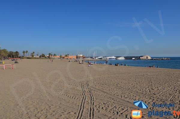 Photo de la plage de Somorrostro à Barcelone