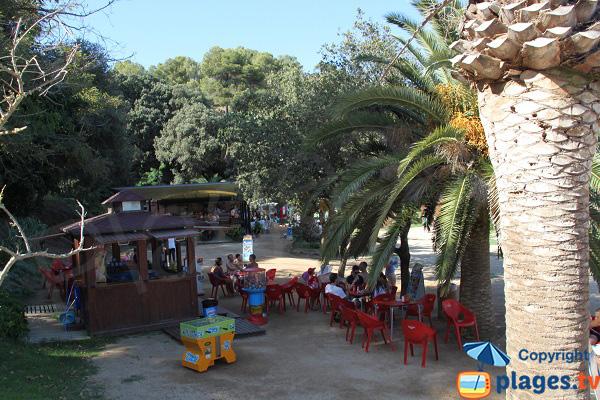 Paillote sur la plage de Santa Christina à Lloret de Mar