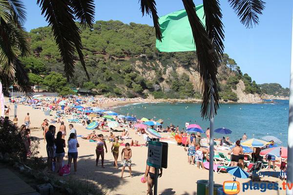 Photo de la plage de Santa Christina à Lloret de Mar - Espagne
