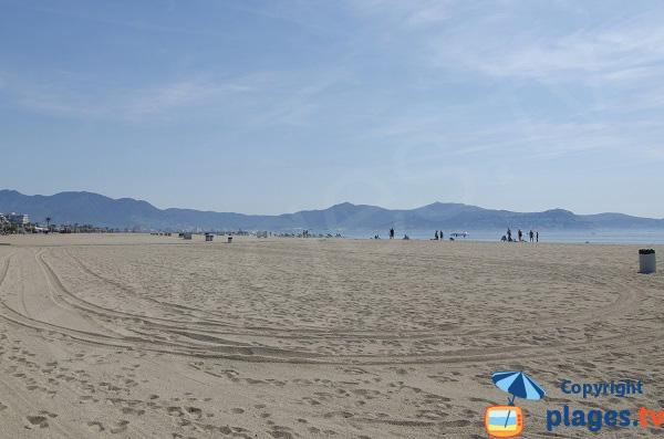 Photo de la plage au sud d'Empuriabrava - Espagne