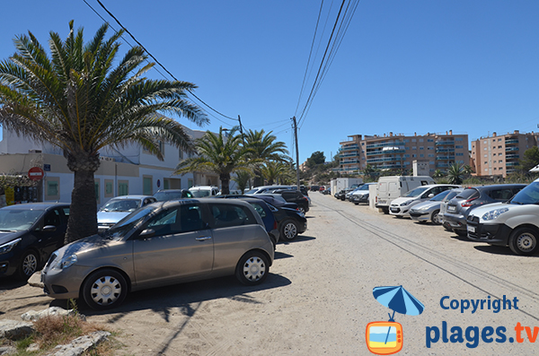 Parking de la plage de Talamanca à Ibiza