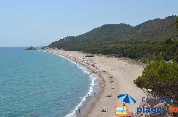 Grande plage naturiste à l'Hospitalet de l'Infant - Espagne