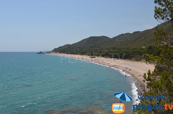 Photo de la plage del Torn à l'Hospitalet de l'Infant - Espagne