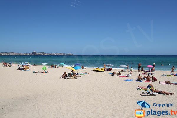 Plage de sable fin à Calonge - Espagne