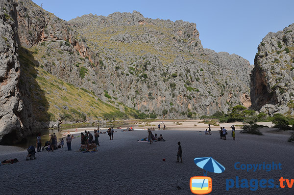 Photo de la plage du Torrent Pareis de Sa Calobra à Majorque