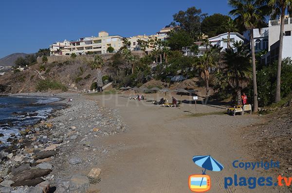 Photo de la plage de Torrequebrada à Benalmadena - Espagne