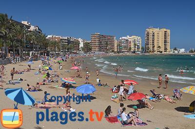 Plage à Torrevieja en Espagne