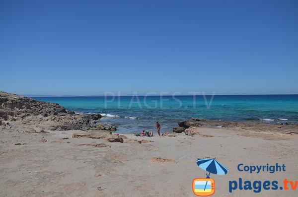 Plage de Tramuntana à côté d'Es Calo - Formentera