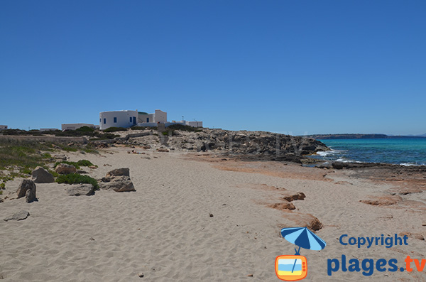 Photo de la plage de Tramuntana à Es Calo - Formentera