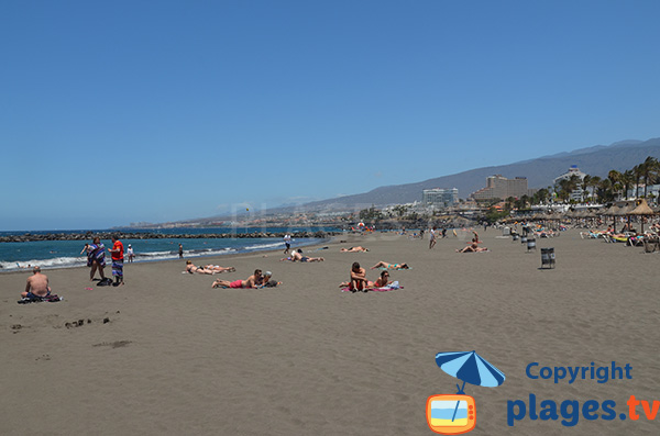 Belle plage à Las Americas - Tenerife