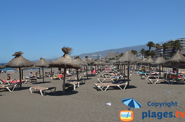 Photo de la plage de Troya de Playa de Las Americas à Tenerife