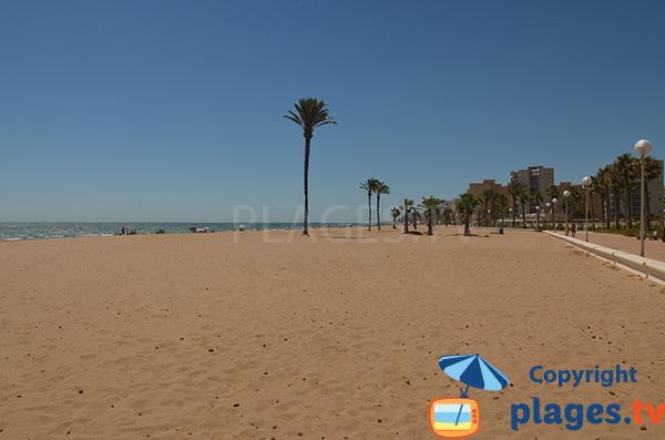 Photo de la plage d'Urbanova au sud d'Alicante