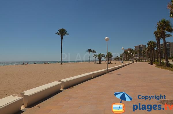 Photo de la promenade piétonne le long de la plage de Saladares à Urbanova