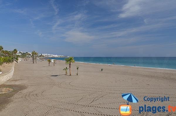 Centre de la plage de Venta del Bancal - Mojacar
