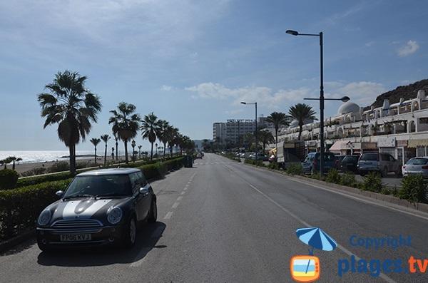 Route à proximité de la plage de Mojacar - secteur Venta del Bancal