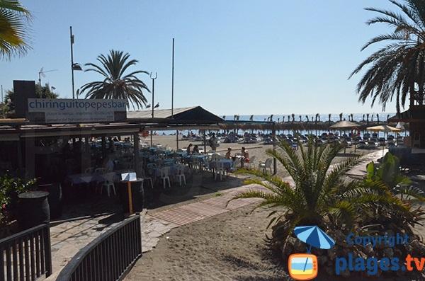 Restaurant sur la plage de Venus à Marbella