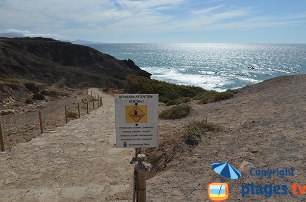 Accès à la plage de Viego Rey à Fuerteventura - Canaries