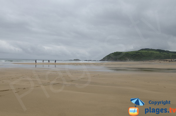 Photo de la plage de Zarautz en Espagne