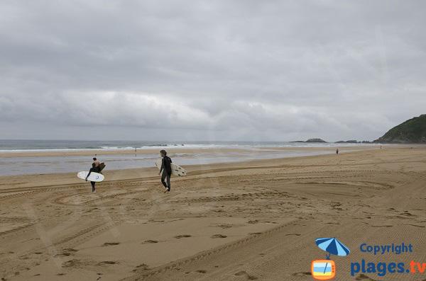 Plage pour le surf à Zarautz - Espagne