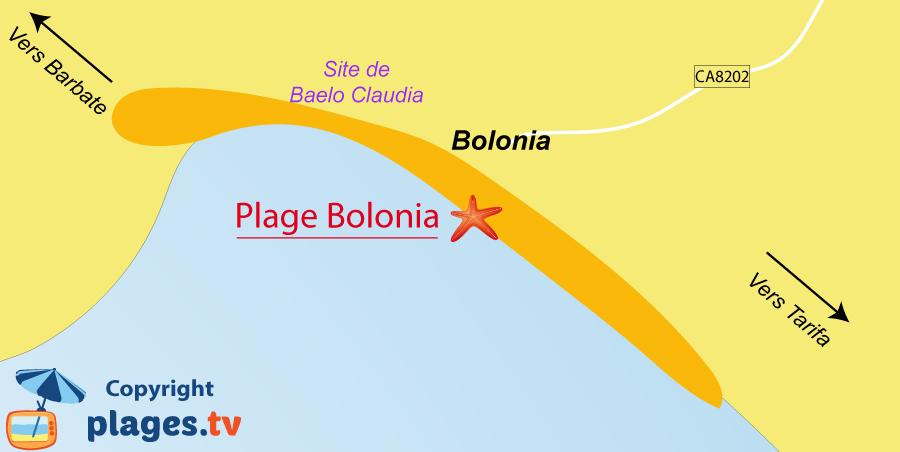 Plan des plages de Bolonia en Andalousie