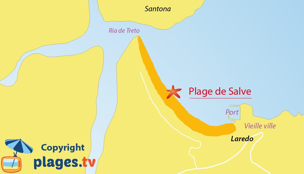 Plan des plages de Laredo en Espagne