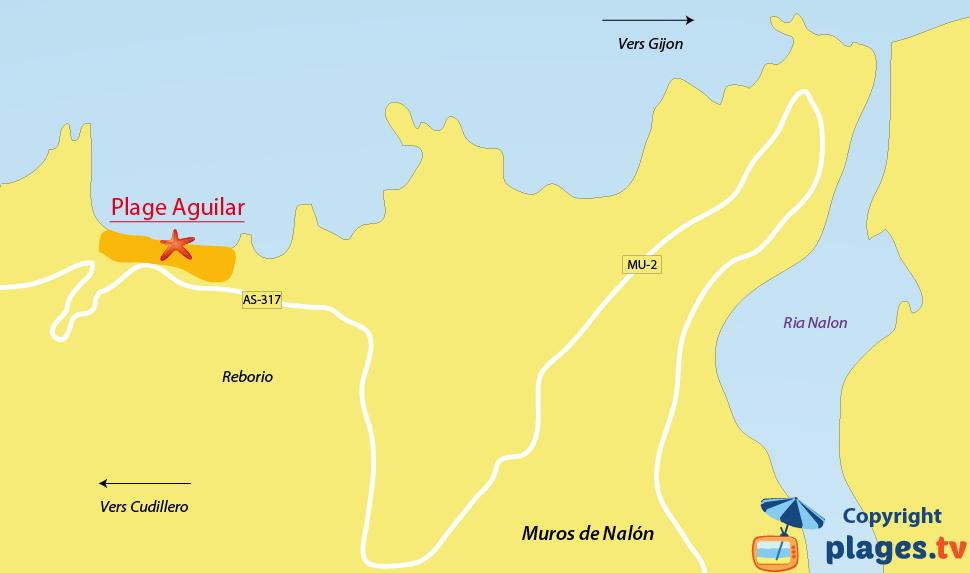 Plan des plages de Muros de Nalon en Espagne dans les Asturies