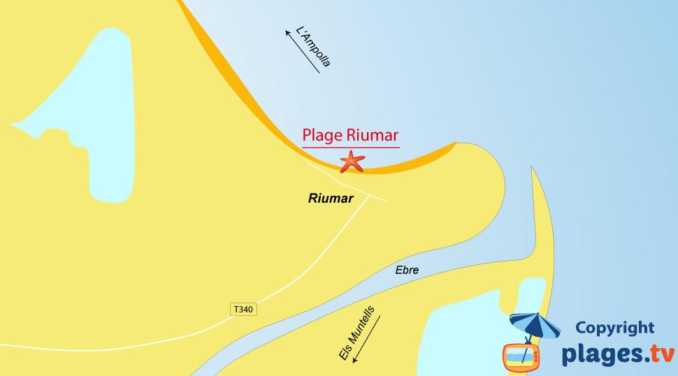 Plan des plages de Riumar en Espagne