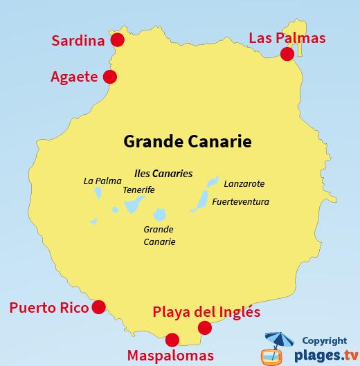 carte espagne et canaries