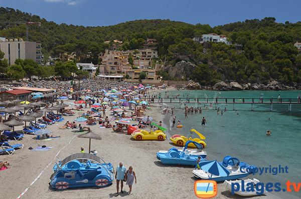 Grande plage à Camp de Mar à Majorque