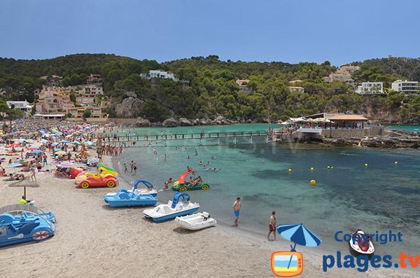 Photo de la plage du Camp de Mar sur l'ile de Majorque