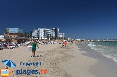 Ibiza Karte Playa D En Bossa.Beaches In Platja D En Bossa Balearic Islands Spain Seaside