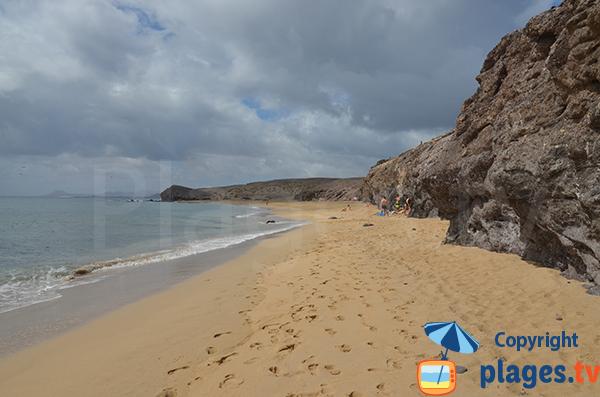 Beach of Congrio in Lanzarote