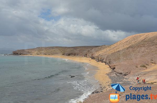Naturist beach south of Lanzarote