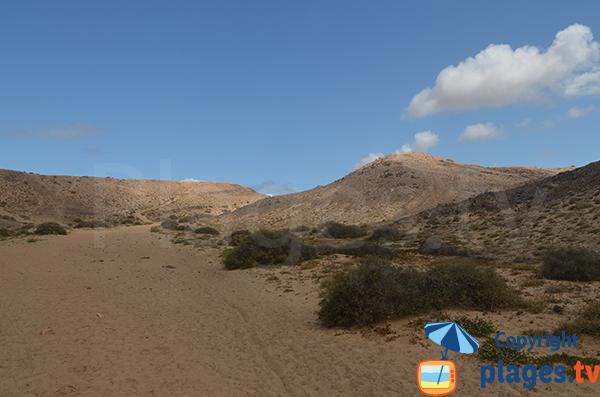 Dunes around the beach of Congrio - Canary Islands - Lanzarote