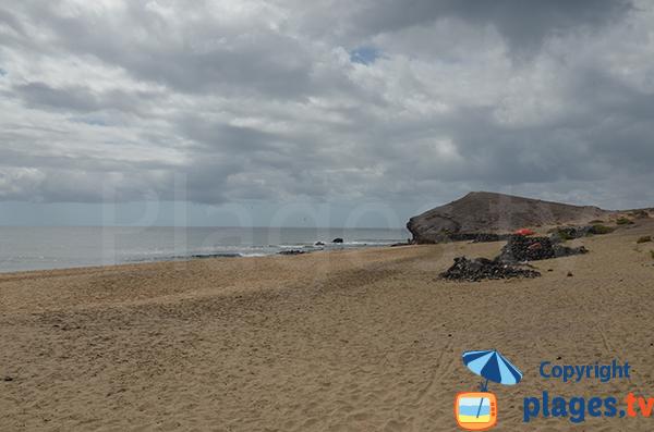 plage naturiste à proximité de la plage de Papagayo - Lanzarote