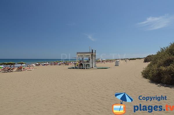 Plage dans les dunes à Playa del Ingles - Grande Canarie
