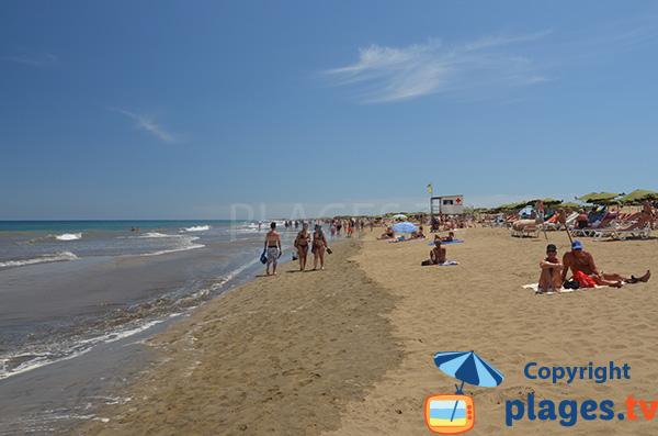 Poste de secours sur la Playa del Ingles - Grande Canarie