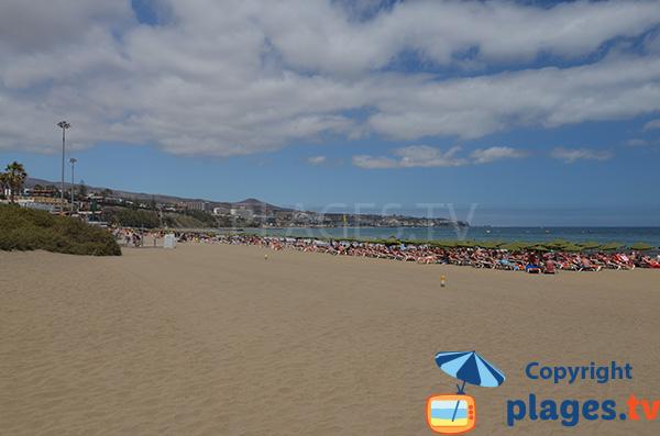 Photo de la plage de Playa del Ingles à Grande Canarie - Espagne