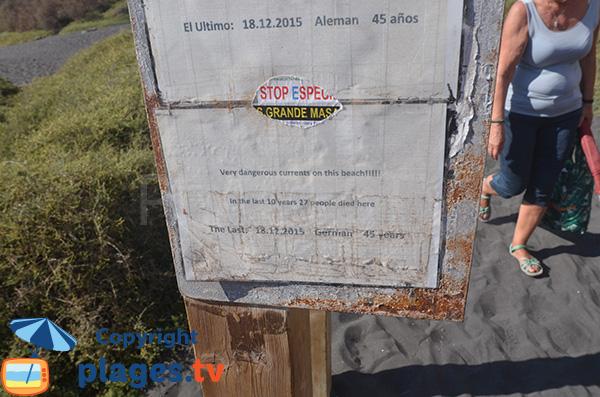 Mort sur la plage del Inglés à Valle Gran Rey - La Gomera