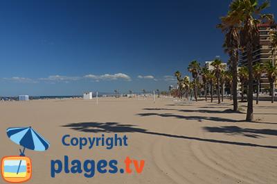 Plage de Gandia au sud de Valence