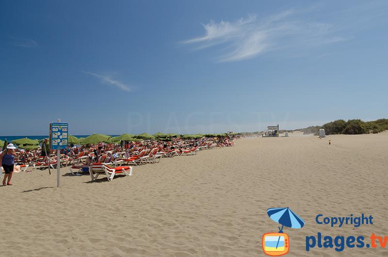 Playa les Ingles à Gran Canaria