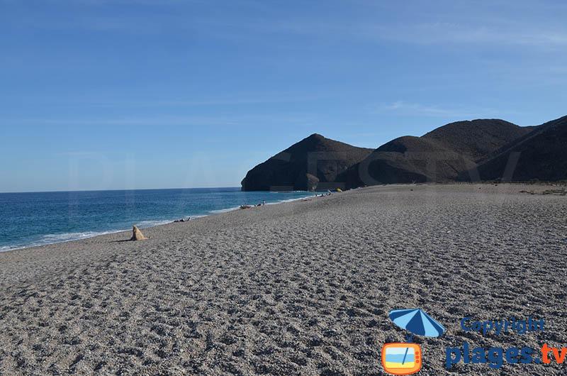 Playa Los Muertos à Carboneras - Andalousie
