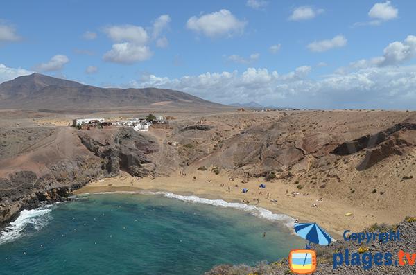 Plage de Papagayo à Lanzarote - Playa-Blanca