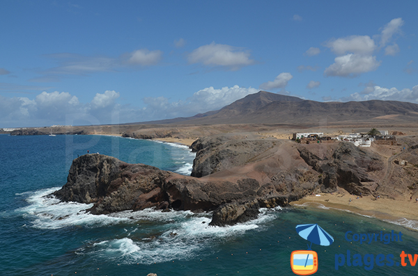 Crique sauvage au sud de Lanzarote