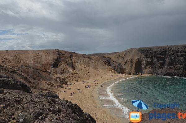 Plage et dune de Papagayo à Lanzarote