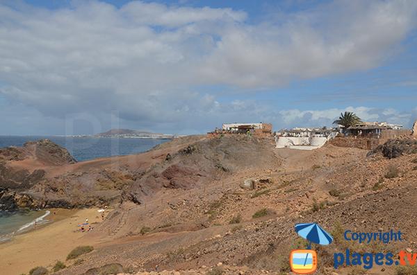 Restaurant sur la plage de Papagayo - Lanzarote