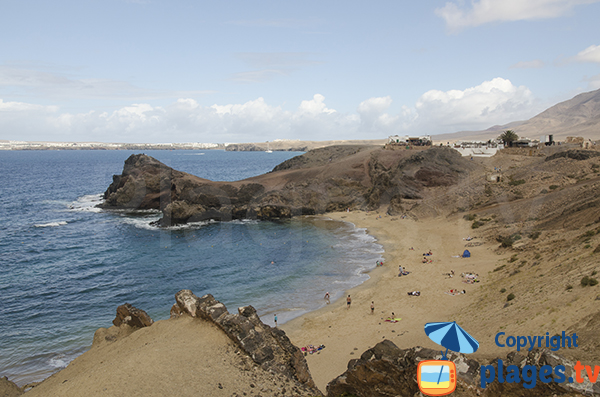 Photo de la plage de Papagayo à Lanzarote