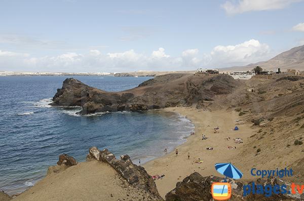 Photo de la plage de Papagayo à Lanzarote